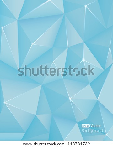 Abstract light blue crystal background - stock vector