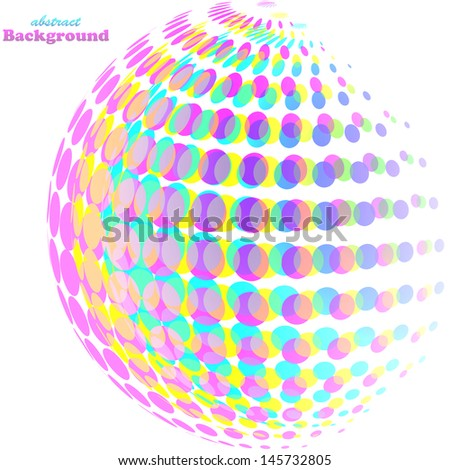 Abstract light colorful background - stock vector