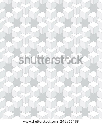 abstract light cubes - stock vector