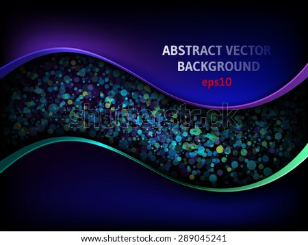 Abstract light, eps10 - stock vector