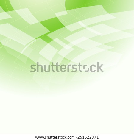 abstract light green background with rhombus - stock vector