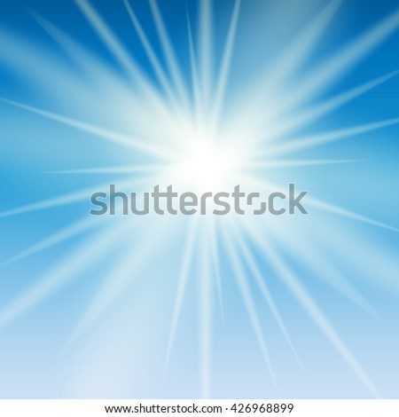 Abstract Light on Blue Background Vector Illustration EPS10 - stock vector