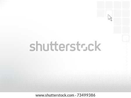 Abstract light silvery vector background with the computer cursor eps8 - stock vector