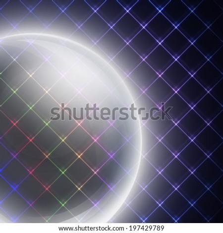 Abstract light sphere on black background vector illustration - stock vector
