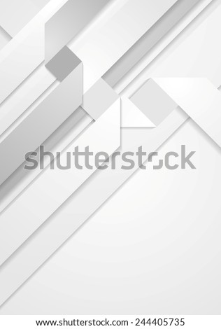 Abstract light tech geometric corporate background. Vector design - stock vector