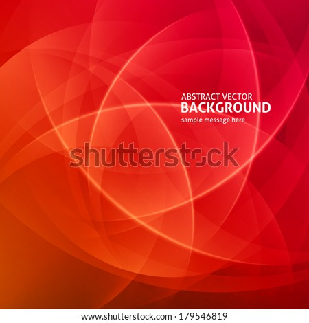 Abstract light waves vector background. Poster or banner geometric design.  - stock vector