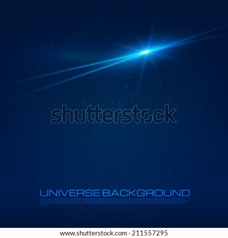 Abstract lighting flare. Vector illustration