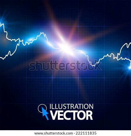 Abstract lightning background. Explosion. Vector illustration - stock vector