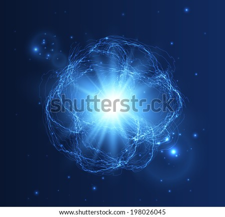 Abstract lightning storm background. Vector eps10 - stock vector