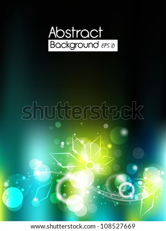 Abstract lights Background EPS 10 - stock vector