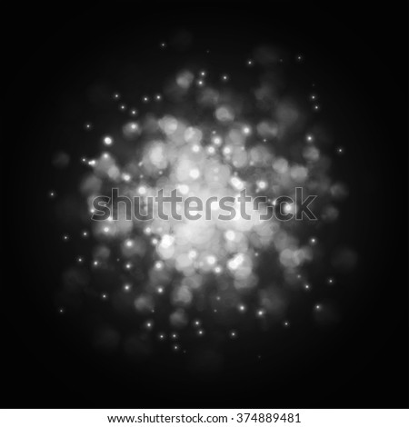 Abstract lights background. Vector explosions.