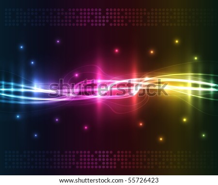 Abstract lights - colored vector background - stock vector