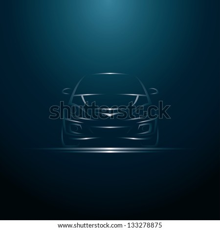 Abstract line car - vector illustration - stock vector