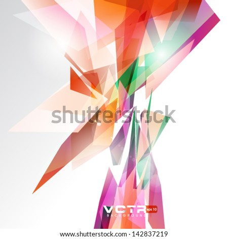 Abstract Line Pattern Background - stock vector