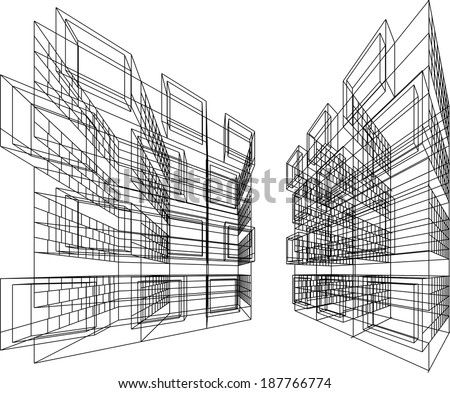 Architecture Design Background abstract linear architecture design background stock vector