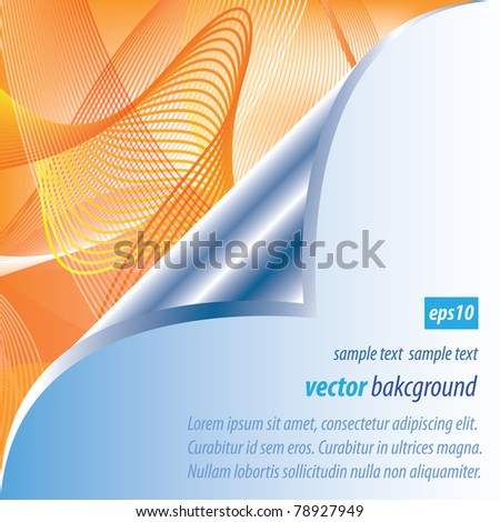 Abstract linear background - stock vector