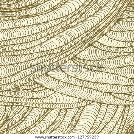 Abstract linear beige seamless texture. Decorative neutral pattern, template for design and decoration - stock vector