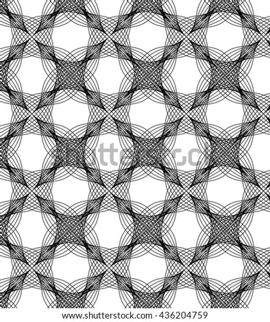 Abstract linear petal flower. Vector pattern