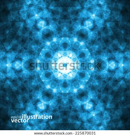 Abstract lines and light, futuristic digital background - stock vector
