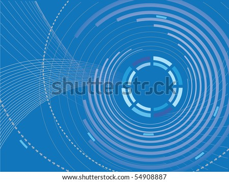 Abstract Lines Background - stock vector