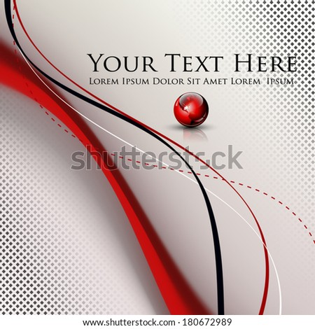 Abstract lines background with dedicated room for your text and logo - vector illustration - stock vector