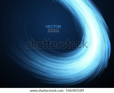 Abstract lines curve. Smooth texture. Vector background.