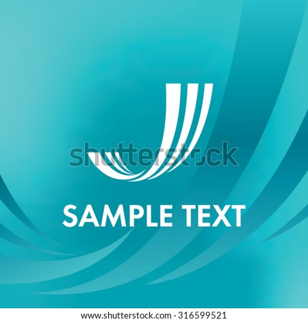 Abstract Lines Logo. Letter J logo - stock vector