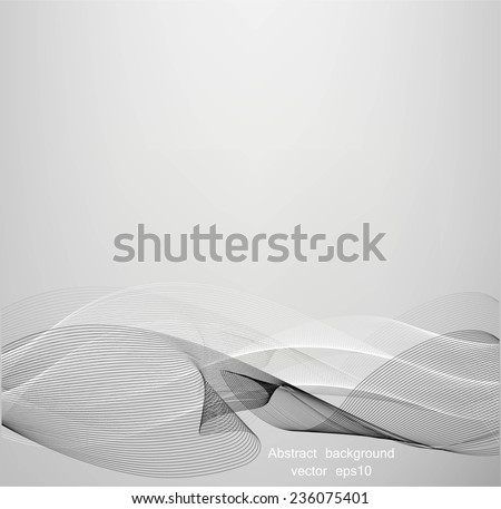 Abstract lines on gray background - stock vector