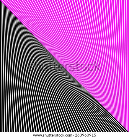 abstract lines twisted illusion - vector - stock vector