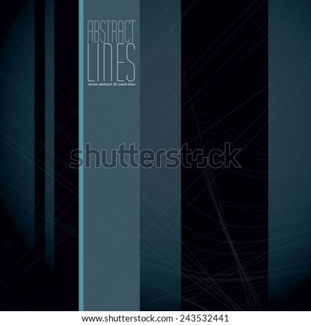 Abstract lines vector illustration, clear eps 8 vector. - stock vector