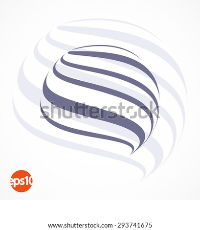 Abstract lines vector logo business element - stock vector