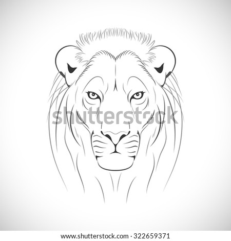 Abstract Lion - stock vector