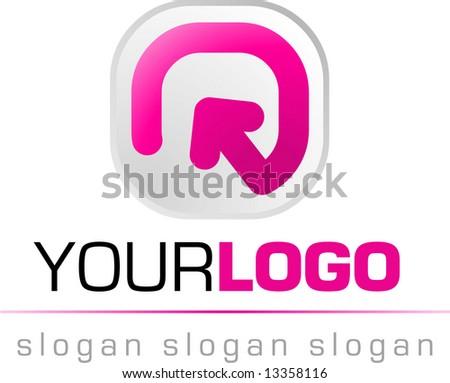abstract logo and icon, vector web 2.0 - stock vector