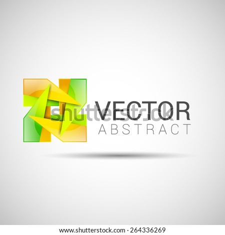 abstract logo beaded branding business clear color computer creative design element future .  - stock vector
