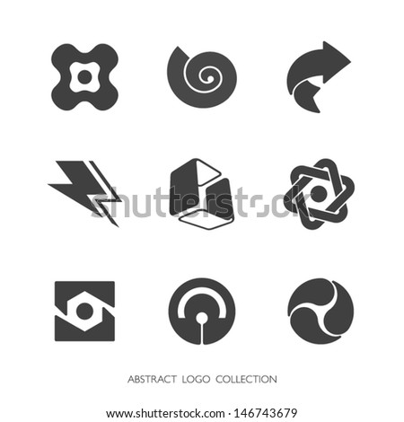 Abstract Logo Collection. Vector graphics. - stock vector
