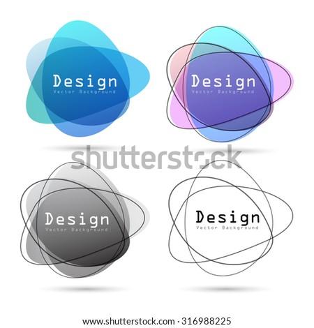 Abstract logo design element ,Vector eps10 - stock vector