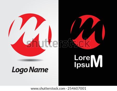 Letter m Logo Red Letter m Logo