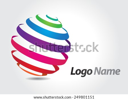 Abstract logo design.Round vector logo template. - stock vector