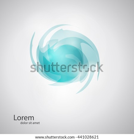 Abstract logo design template. Business abstract icon. As sign, symbol, logo, web, label, emblem. Abstract whirl logo template. Infinite shape. Vector illustration - stock vector