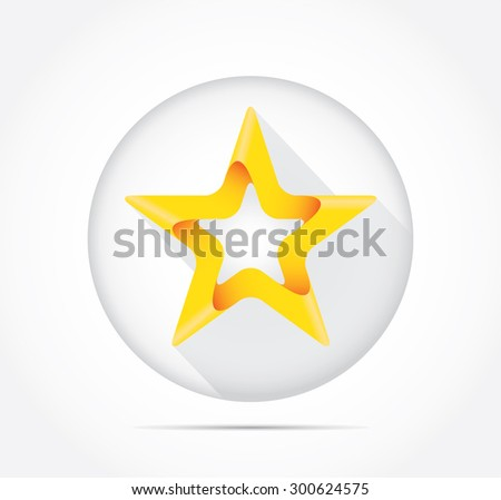 Abstract logo design, yellow star-badge - stock vector