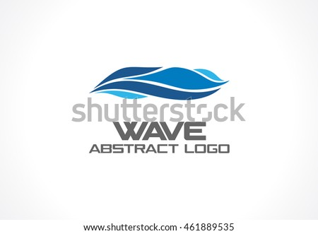 Abstract Logo For Business Company. Corporate Identity Design Element. Eco  Ocean, Nature,