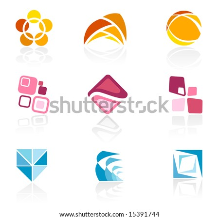 Abstract logo icons - stock vector