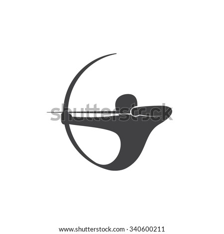 Abstract logo template Archer. Vector illustration of Sagittarius. - stock vector
