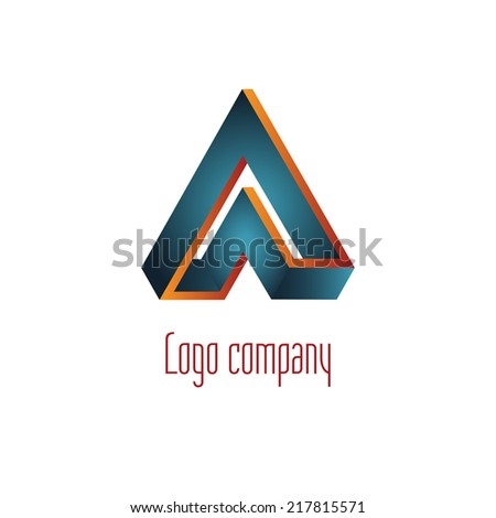 Abstract logo template element for identity business. Vector illustration - stock vector