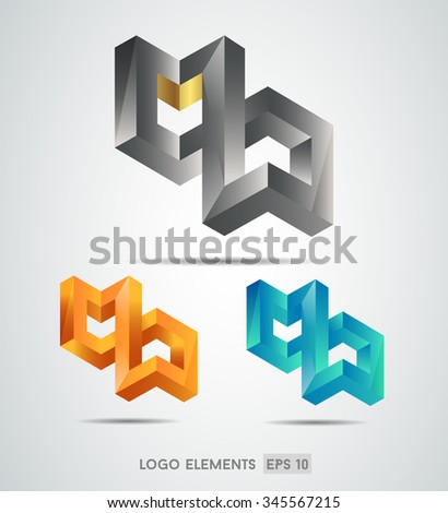 Abstract logo template element for identity business. Vector illustration