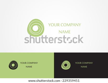 Abstract logo template icon. Logotype for spa or beauty business. Vector. Editable. - stock vector