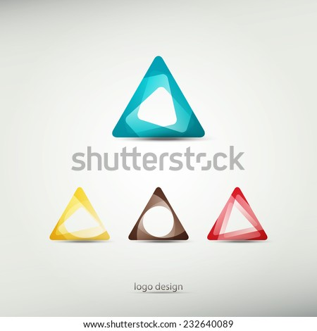 abstract logo template icons. graphic design elements. triangle symbol - stock vector