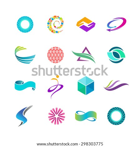 Abstract logo vector collection - stock vector