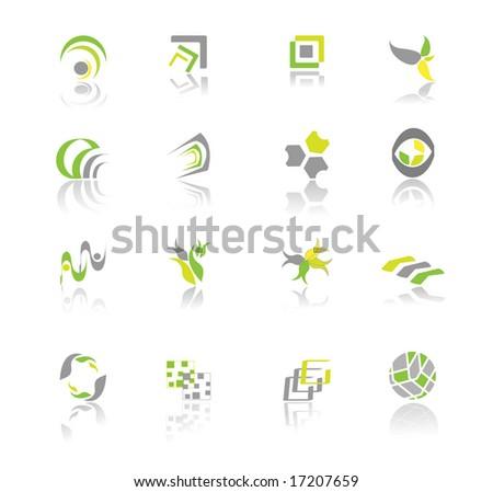 abstract logos - stock vector