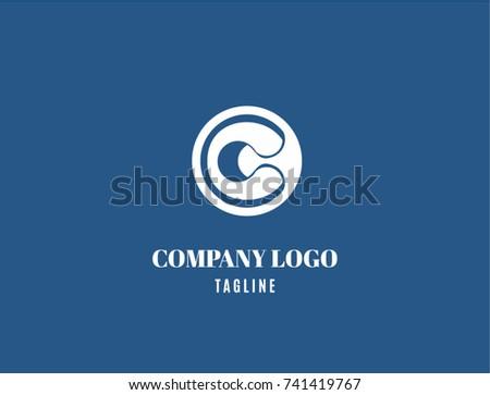 Abstract Logotype C Alphabet Symbol Company Stock Vector 2018